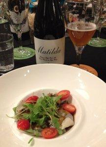 Entrée: Raviolis de carbonade Flamande, tomates cerise, micro-pousse et réduction de jus de viande à la bière Matilda ©KatiaBouchard
